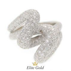 Авторское кольцо Regina с россыпью бриллиантов в белом золоте 750
