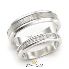 обручальные кольца Arien вбелом золоте с матированием