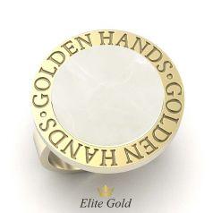 авторский мужской перстень в лимонном золоте