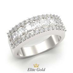 кольцо Saphira в белом золоте 585 с белыми камнями