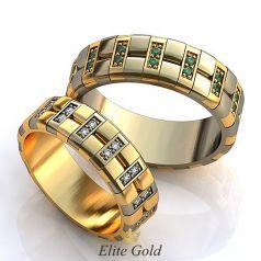 кольца Delight в белом и лимонном золоте 585