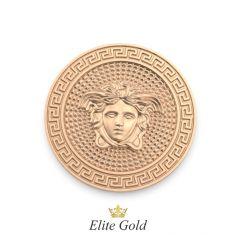 Золотая круглая подвеска в стиле бренда Версаче