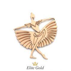 Золотая подвеска в виде танцующей балерины