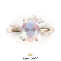 Авторское помолвочное кольцо Freya в красном золоте