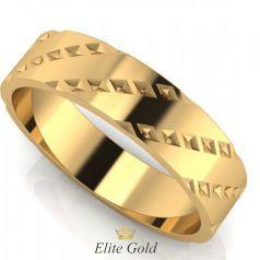 Золотое стильное кольцо Ellian