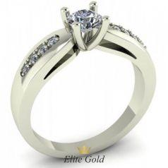 Женское кольцо Ebba в белом золоте
