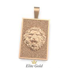 Золотая ладанка с изображением льва