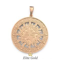 Славянский оберег Валькирия - золотой кулон
