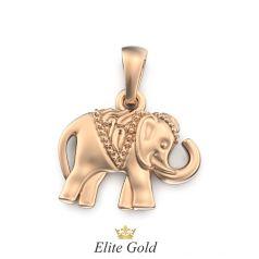 Золотой кулон с изображением слона