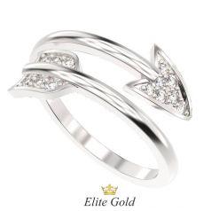 кольцо Стрела Купидона в белом золоте