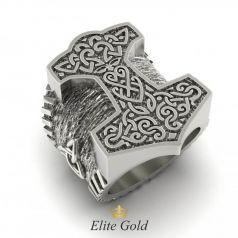 Золотое мужское кольцо Молот Тора