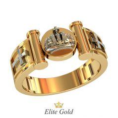 мужской золотой перстень с короной