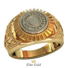 мужской перстень с надписью на латыни
