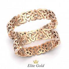 Золотые ажурные обручальные кольца Venecia