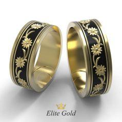 Золотые обручальные кольца Onika с цветами