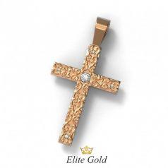 Золотой крес с орнаментом и камнями