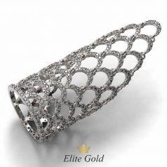 Золотое кольцо Daniela усыпанное камнями