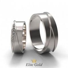 Золотые геометрические обручальные кольца Danessa