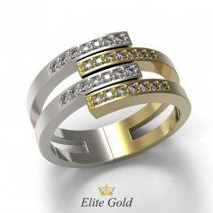 Золотое составное кольцо Odilia