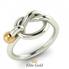 Золотое кольцо Ofra с узлом