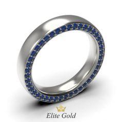 Золотое кольцо с камнями по кругу