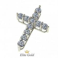Золотой крест в камнях в стиле бренда Тиффани
