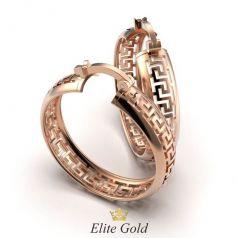 Золотые серьги в стиле бренда Versace