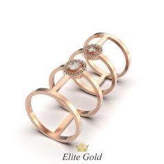 Золотое длинное женское кольцо Lanna