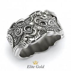 Золотое рельефное кольцо Animalistic