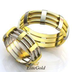 Авторские обручальные кольца Urban Chic с геометрическими элементами