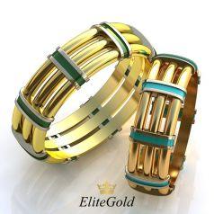 Авторские обручальные кольца Urban Chic с ювелирной эмалью