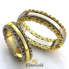 Винтажные обручальные кольца Sueno De Mi с ажурными ободками