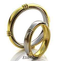 Сдвоенные обручальные кольца Gallery of Miracles