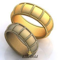 Авторские обручальные кольца Fabiosa с переплетением