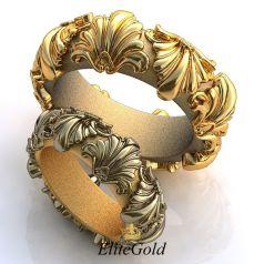 Роскошные обручальные кольца Historia del Arte в стиле Барокко