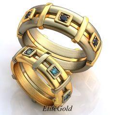 Обручальные кольца Avance в комбинированном золоте