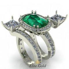 Золотое женское кольцо Savage с россыпью камней