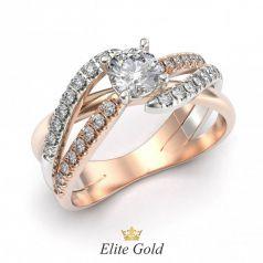 Золотое женское кольцо Irisa в камнях