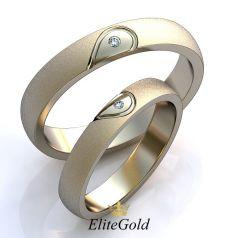 Авторские лаконичные кольца Corde с двумя половинками сердца