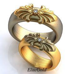 Обручальные кольца Convesso Prima с накладкой по центру