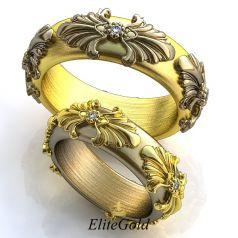 Роскошные обручальные кольца Convesso Completo в стиле Барокко
