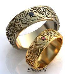 Авторские обручальные кольца Endless Love с символом Свадебник в центре