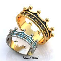 Эксклюзивные кольца-короны Encarna с ювелирной эмалью