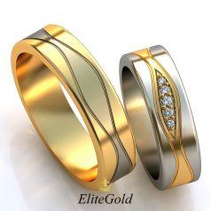 Авторские обручальные кольца Amantes в комбинированном золоте