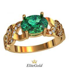 Дизайнерское кольцо Creolet с овальным камнем в центре