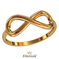 Дизайнерское кольцо в виде знака бесконечности