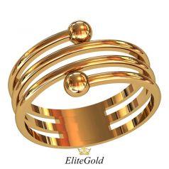 Дизайнерское широкое кольцо Riddle