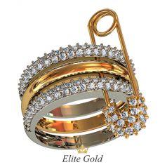 Составное женское кольцо Cloudia c россыпью камней