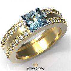 Авторское женское кольцо Nia в камнях по ободку