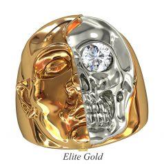 Массивный мужской перстень Essere Dentro в виде черепа